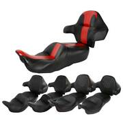 Front Rear Seat Wrap Around Backrest Pad Set Fit For Harley Touring 14-20 Flhr