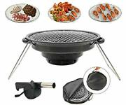 Bbqmm Charcoal Korean Bbq Grill Outdoor Portable Bbq Grill Stainless Steel Wi...