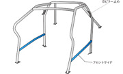 Okuyama Dash Roll Cage Steel 8p For Toyota Lexus Is-f Use20 721-075-0