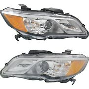 Headlight Set For 2013-2015 Acura Rdx Left And Right Outer With Bulb Capa 2pc