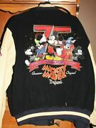 Mickey Mouse Leather Jacket Size Xl 75th Anniversary Band Concert Olden Days