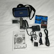 Panasonic Pv-gs59 Mini Dv Camcorder 30x Zoom Sd W/ Extras Tested And Working