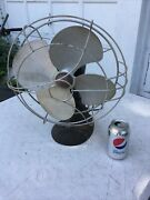 Antique Vintage F A Smith Arctic Aire Aa Table Fan Cast Iron Base - Works Fine