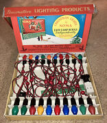 Vintage Christmas Lights By Noma New In Box-never Used