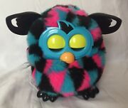 2012 Hasbro Furby Boom Blue Pink And Black Triangles Talking Interactive Toy Works
