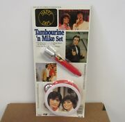 1982 Happy Days Joanie And Chachi And Fonzie Tambourine N' Microphone Toy Set