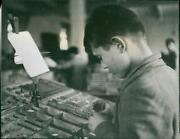 A Boy Learning To Set Up Old Printing Machine - Vintage Photograph 3300768