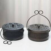 Box Mosquito Coil Holder Fireproof Handle Home Incense Burner Portable