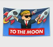 Elon Musk To The Moon3x5 Feet Flag Banner Wall Tapestry For College Dorm