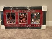 Michael Jordan Autographed And Framed 6 Time Champion Trio Picture Coa