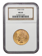1926 10 Ngc Ms64 - Indian Eagle - Gold Coin