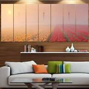 Designart And039sun Over Blooming Lake Panoramaand039 Landscape Wall Oversized