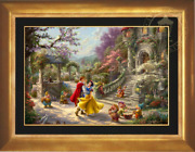 Thomas Kinkade Snow White Dancing In The Sunlight Andndash Limited Edition 18x27 Gp