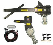 1955-1957 Convertible Front And Rear Power Window Kit W/ Ftfg Switches For Console