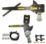 1955-1957 Chevy Sedan Front And Rear Power Window Kit With Ftfg Switches For Door