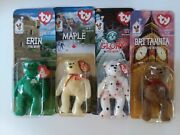 Ty Madonalds Set Of 4 International Bears New In Boxes