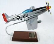 Usaf P-51d Mustang Chuck Yeager Signed Desk Display Ww2 Model 1/24 Es Airplane