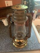 Rare Dietz No.2 Blizzard With Brass Fount And Brass Chimney Cap And Clear Fitall