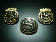 Lot Of 3 Different Sterling Silver Canada Pins Badges Jewish Judaica Canadian