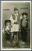 Greece Carnival Boys Dressed As Tsolias And Cow Boys Postcard Size Photo