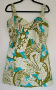 Vtg Womens Bathing Suit One-piece Jay Hart Romper 50s 60s Pinup Swimming Large