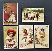 Lot 1880s Antique 5 Mile-end Spool Cotton Clarks Ad Trade Cards Victorian Sewing