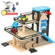 Train Track Toys Parking Set Compatible Brand Wooden Railway Track Wooden Kids