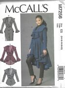 Plus Size Mccall's Pattern M7256-misses Coats Sizes 14-22 Too Cute