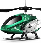 Remote Control Helicopter S107h-e Aircraft With Altitude Hold Green