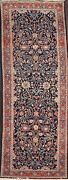 Vintage Mahal Floral Hand-knotted Runner Rug All-over Oriental Wool Carpet 3x10