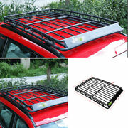 Fit For 2017-2021 Jeep Compass Black Steel Top Roof Cargo Rack Cross Bars 1pcs