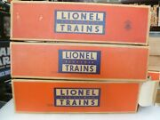O Scale- Lionel Post War-set Of 3 Post War Passenger Boxes - Boxes Only - R31
