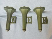 3 Antique Railroad From Real Train Car Wall-mount Aluminum Flower Holders