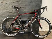Super Clean Specialized Tarmac Pro Sram Red/force 56cm Road Bike W/carbon Wheels