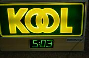 Vintage Kool Cigarettes Neon Sign With Clock For Store Or Man Cave Advertisement