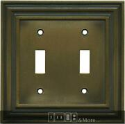 Brainerd Rustic Edges Tumbled Antique Brass Switch Plates, Wall Plates And Outlet