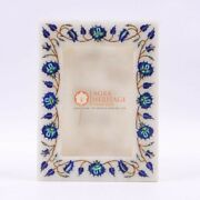 Floral Marble Inlay Photo Frame Handmade Modern Housewarming Gifts For Her Decor