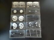 6 Lot Of 10- Keystone View Co Stereoview Stereoscope Photo Cards-planets-moon