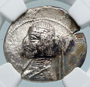 Arsaces Xvi Parthian King 78-62ad Orodes I Ancient Silver Greek Coin Ngc I89414