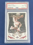 2004 Topps Lebron James 23 Cleveland Cavaliers Psa 8 Trading Card A7050