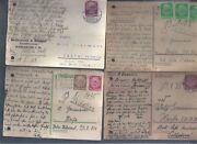 Israel 4 Postcards Germany Reich To Palestine Before Ww2