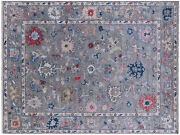 Turkish Oushak Hand-knotted Wool Rug 9and039 2 X 12and039 1 - Q9159