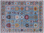 9and039 3 X 12and039 0 Hand Knotted Turkish Oushak Wool Rug - Q9153