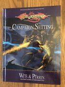 Dragonlance Campaign Setting 2003 1st Print Hc Dungeons And Dragons 3.5/d20 Wotc