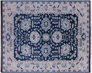 Hand Knotted Turkish Oushak Wool Rug 8and039 2 X 10and039 0 - Q9146