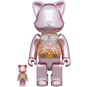 Bearbrick My First Meow Brick 100 And 400 Pink Rare