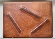Vintage Italian Leather Playing Card Case Box W/ 2 Sets Dal Negro Playing Cards