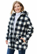 Woman Within Womenand039s Plus Size Hooded Fleece Coat