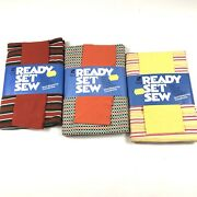Lot Of 3 Vintage Ready Set Sew Short Sleeve Top Complete Sewing Kits Tee Fashion