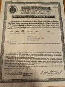 1932 Ford Fordor Certificate Of Title Coupe Truck Hotrod Collectible Rare